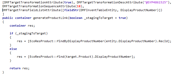 generate method example for DisplayProductNumber