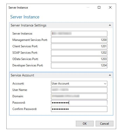 Business Central Administration_New Server Instance